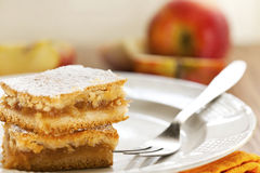 Slice of homemade apple pie Royalty Free Stock Photo