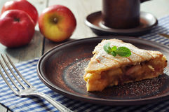 Slice of homemade apple pie Royalty Free Stock Photography