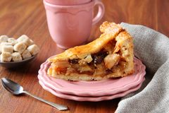Slice of homemade dutch apple pie Stock Image