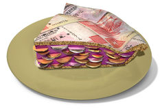 Slice Of Hong Kong Dollar Money Pie Stock Images