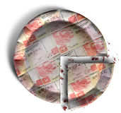 Slice Of Hong Kong Dollar Money Pie Royalty Free Stock Photo