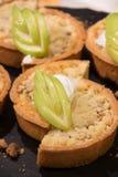 Slice of hot homemade apple pie. Stock Photo