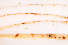 Slice of hot smoked squid Stock Photos