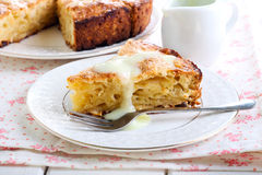 Slice of Irish apple cake Royalty Free Stock Images