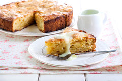 Slice of Irish apple cake Royalty Free Stock Photos