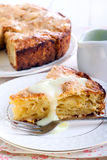 Slice of Irish apple cake Royalty Free Stock Image