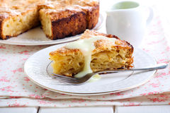 Slice of Irish apple cake Stock Photography