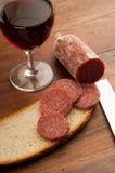 Slice italian salami royalty free stock photography