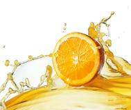 Slice in juice stock photo