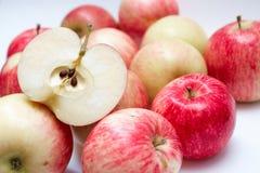 Slice of juicy apple Stock Images
