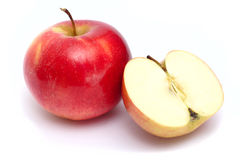 Slice of juicy apple Royalty Free Stock Image