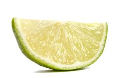 Slice of  juicy lime Stock Photography