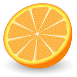 Slice of juicy orange Royalty Free Stock Photography