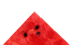 Slice of juicy water melon. A slice of juicy water melon isolated on white background Royalty Free Stock Image