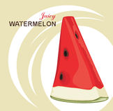 Slice of juicy watermelon on the abstract backgrou Stock Photo