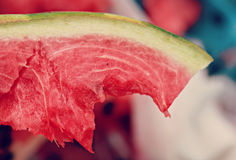 Slice of Juicy Watermelon Stock Photos