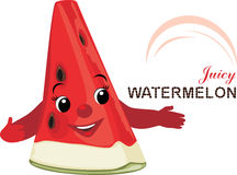Slice of juicy watermelon. Icon for design Stock Image