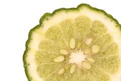 Slice of Kaffir lime Stock Image