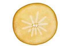 Slice of kaki. Cross section of a backlit kaki slice Stock Image