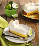 Slice of Key lime pie Stock Image