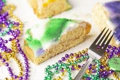Slice of King Cake royalty free stock photo