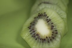 Slice kiwi Stock Photos