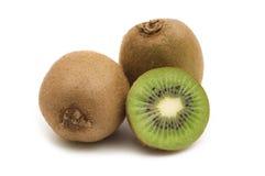 Slice kiwi. On white background Royalty Free Stock Photography