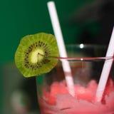 Slice of kiwi on cocktails Stock Image