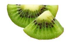 Slice of kiwi fruit isolated on white background royalty free stock photography