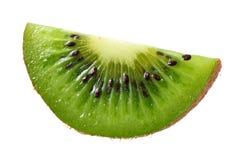Slice of kiwi fruit isolated on white background stock image