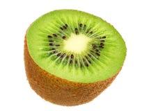 Slice of kiwi fruit isolated on white background royalty free stock image