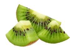 Slice of kiwi fruit isolated on white background stock photography