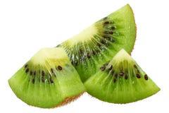 Slice of kiwi fruit isolated on white background stock photos