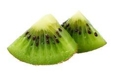 Slice of kiwi fruit isolated on white background stock images