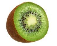 Slice of kiwi fruit isolated on white background royalty free stock photo