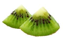 Slice of kiwi fruit isolated on white background stock photo