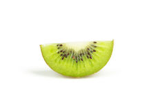 Slice of kiwi fruit isolated on white background. Stock Photography