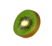 Slice kiwi fruit isolated on a white background Stock Images