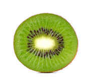 Slice kiwi fruit isolated on a white background Royalty Free Stock Images