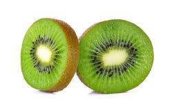 Slice kiwi fruit isolated on a white background Stock Images