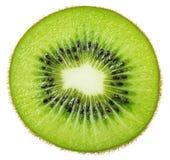 Slice of kiwi fruit isolated on white Royalty Free Stock Photo