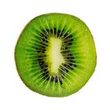 Slice of kiwi fruit isolated on white background Stock Images