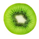 Slice of Kiwi Fruit  isolated on white background, macro. Fresh Kiwi - perfect for product design. Slice of Kiwi t  isolated on white background, macro. Fresh Stock Photo