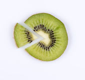 Slice of kiwi. fruit pie chart Royalty Free Stock Images