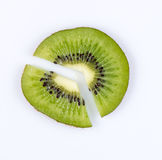 Slice of kiwi. fruit pie chart Stock Image