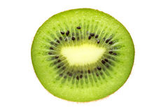 Slice of kiwi isolated on white background. Fresh juicy fruit. Royalty Free Stock Photo