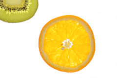 Slice of kiwi and oranges Royalty Free Stock Images