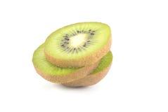 Slice of kiwi. On white background Stock Photos