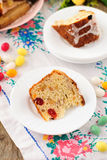 A Slice of Kulitch (Kulich), Russian Easter Sweet Bread Stock Images