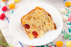 A Slice of Kulitch (Kulich), Russian Easter Sweet Bread Stock Photography